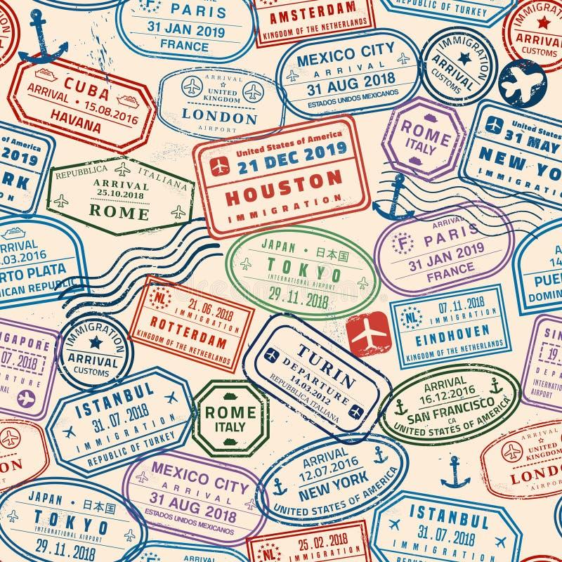 Fond sans couture de passeport illustration libre de droits