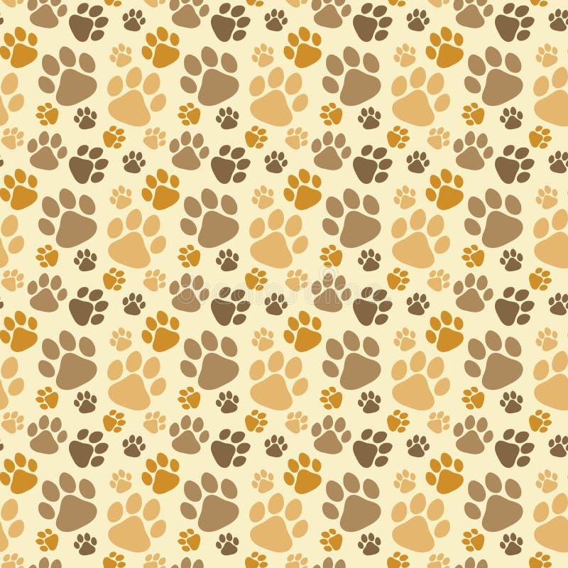 Fond sans couture de pattes de chien illustration de vecteur