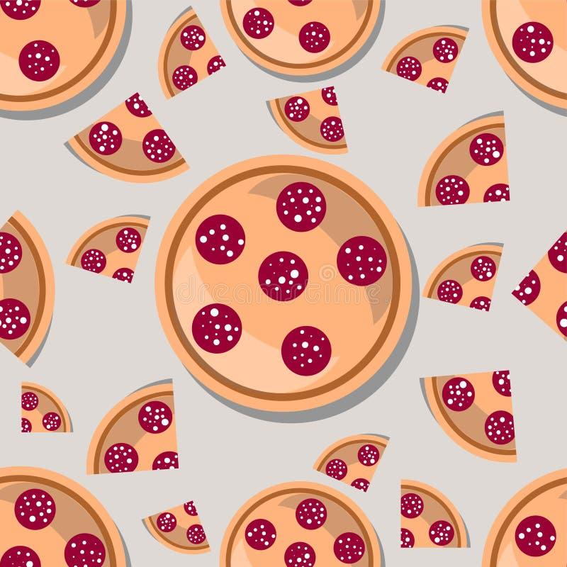 Fond sans couture de pizza image stock