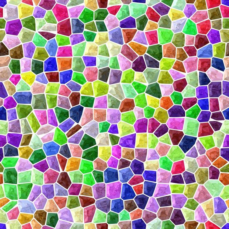 Fond sans couture de plancher de mosaïque extérieure de marbre avec le coulis blanc - spectre polychrome - rose, pourpre, vert, b illustration de vecteur