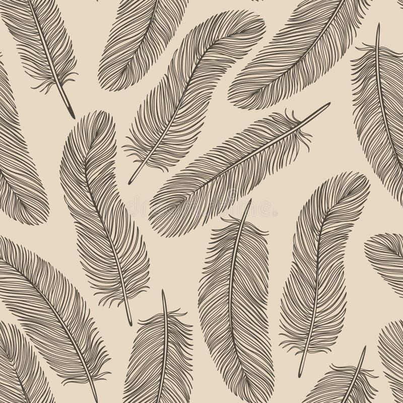 Fond Sans Couture De Plume De Vintage. Photographie stock libre de droits