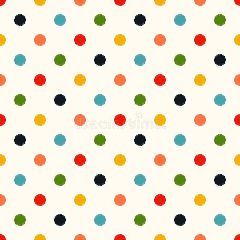 Fond sans couture de points de polka illustration stock
