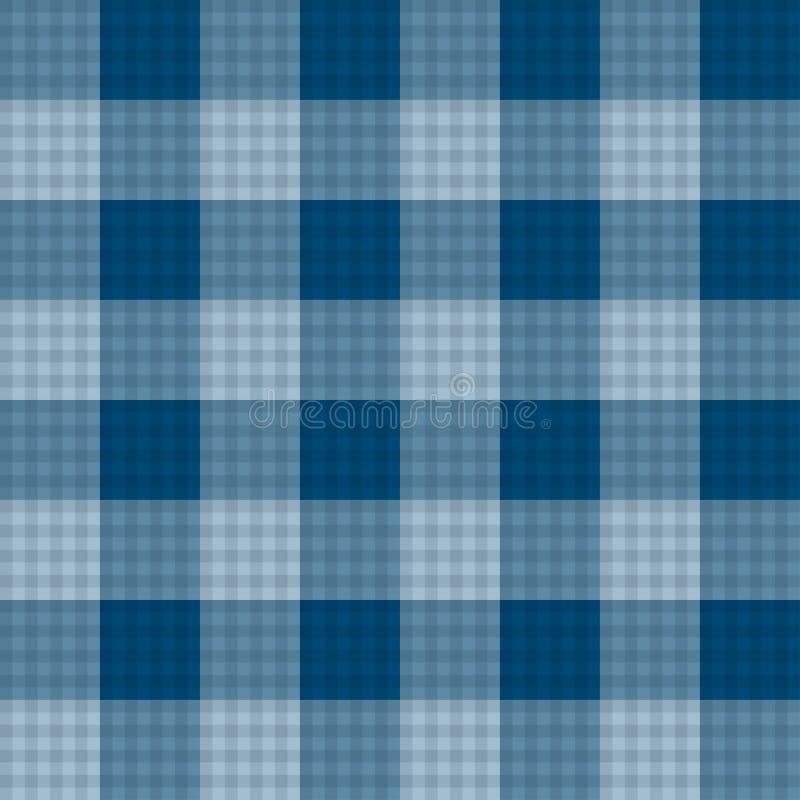 Fond sans couture de tartan de bleu d'indigo Illustration de vecteur illustration libre de droits