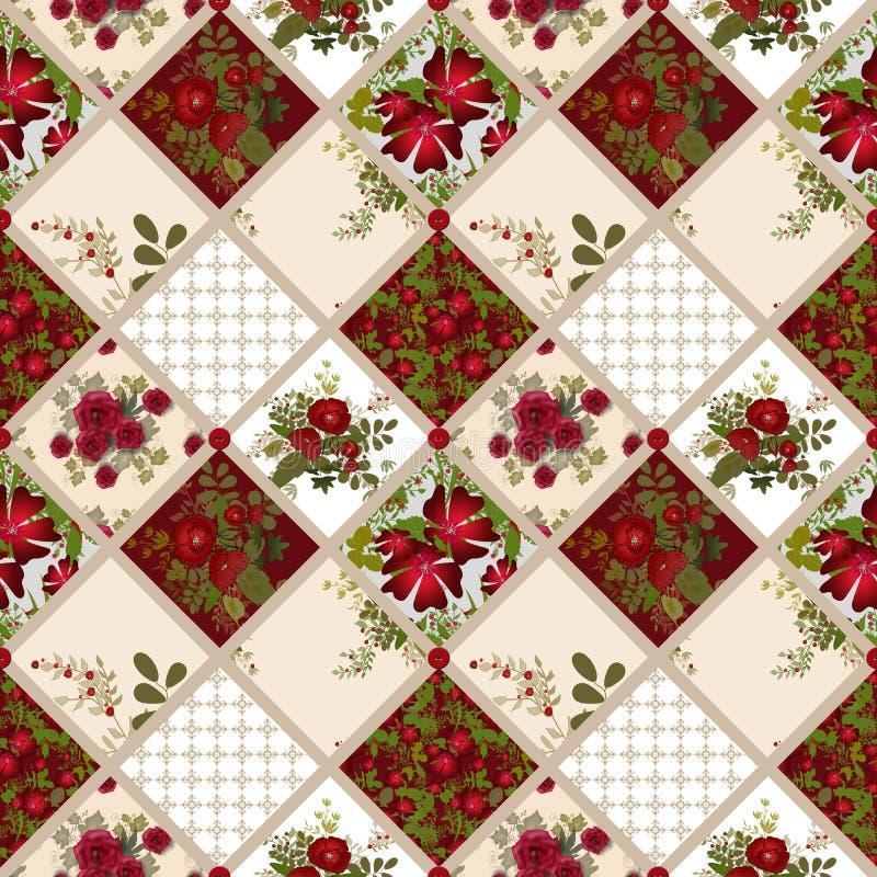 Fond sans couture de texture de modèle de patchwork illustration de vecteur