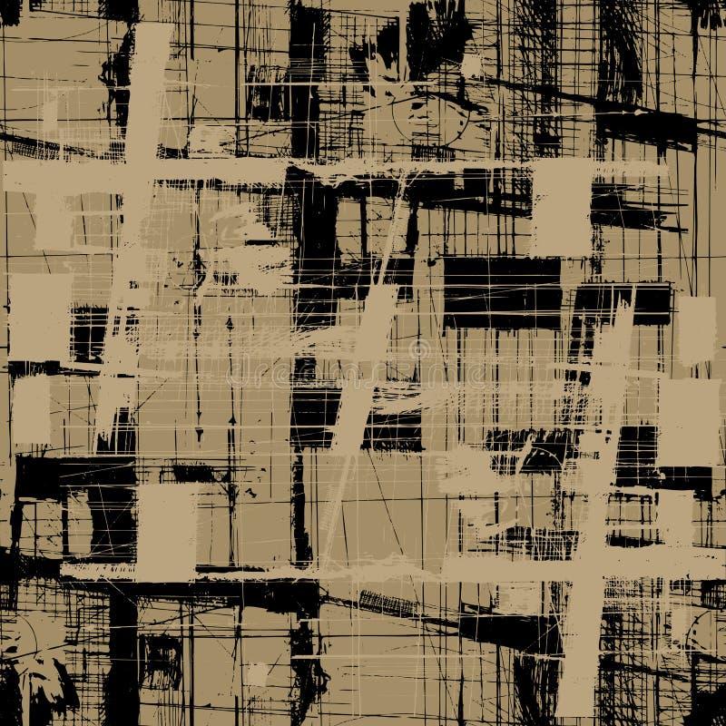 Fond sans couture de texture de vecteur grunge illustration de vecteur