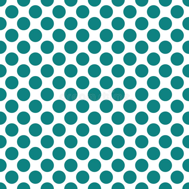 Fond sans couture de texture de modèle de points de polka de sarcelle d'hiver illustration libre de droits