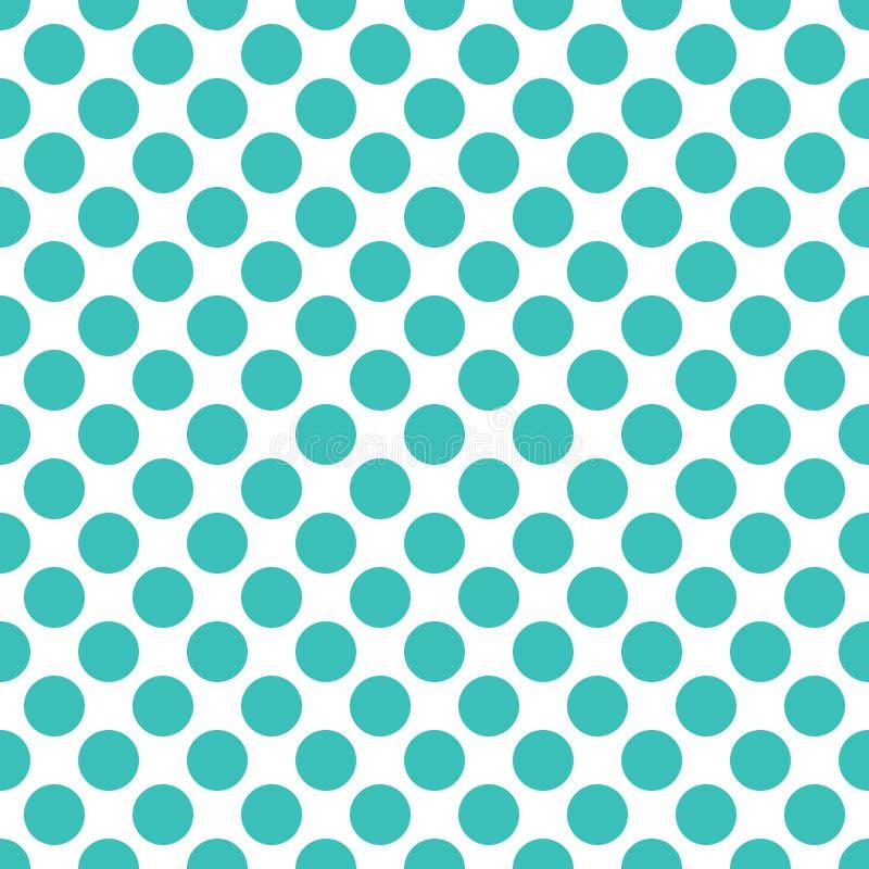 Fond sans couture de texture de modèle de points de polka de turquoise illustration de vecteur
