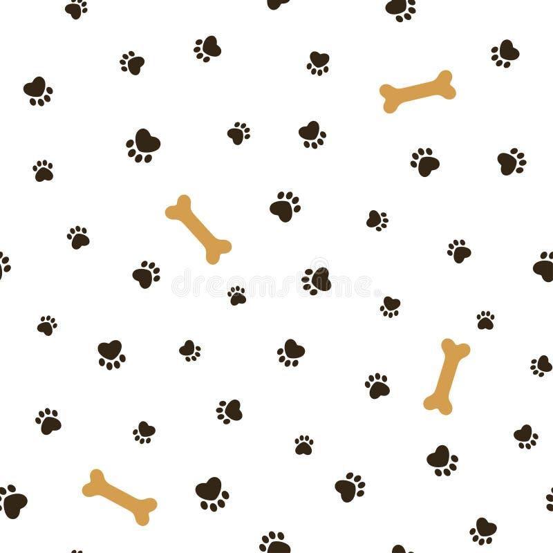 Fond sans couture de thème de chien illustration stock