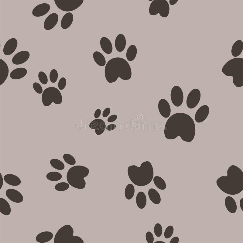 Fond sans couture de vecteur de pattes de chat illustration libre de droits