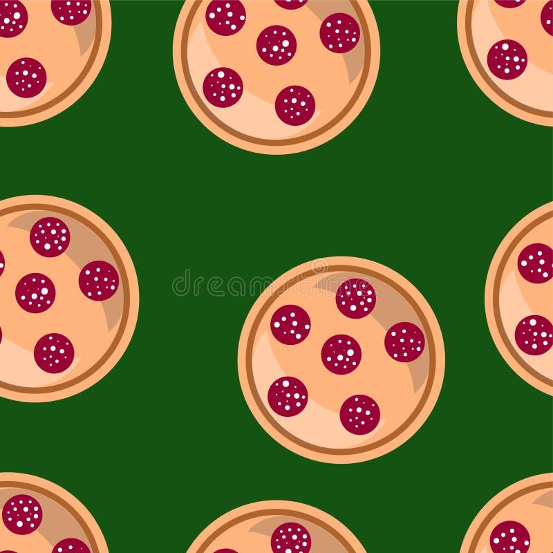 Fond sans couture de vecteur de pizza images stock