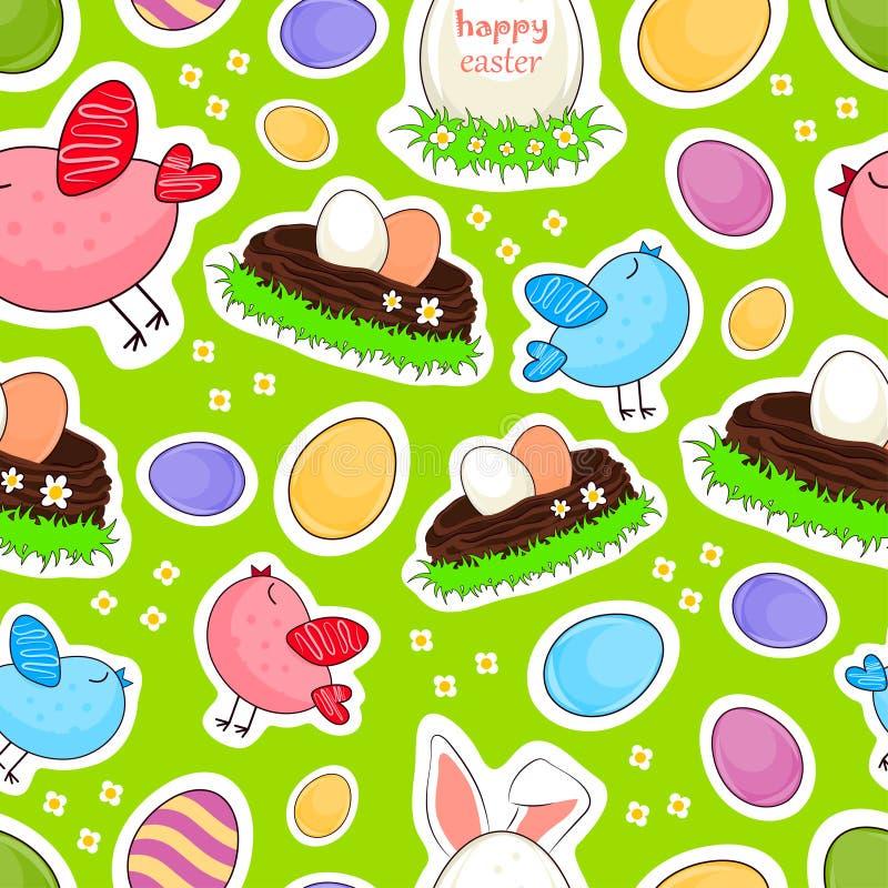 Fond sans couture de vecteur heureux de Pâques illustration de vecteur