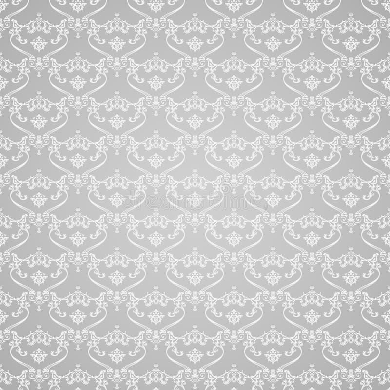 Fond sans couture de vintage de vecteur calligraphique illustration stock
