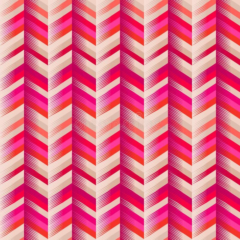 Fond sans couture de zigzag de mode illustration de vecteur