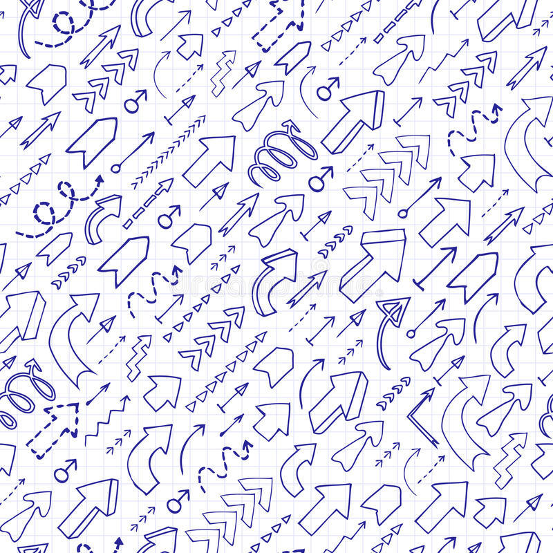 Download Fond Sans Couture Des Flèches De Griffonnage Illustration de Vecteur - Illustration du mathématiques, décoration: 45372529