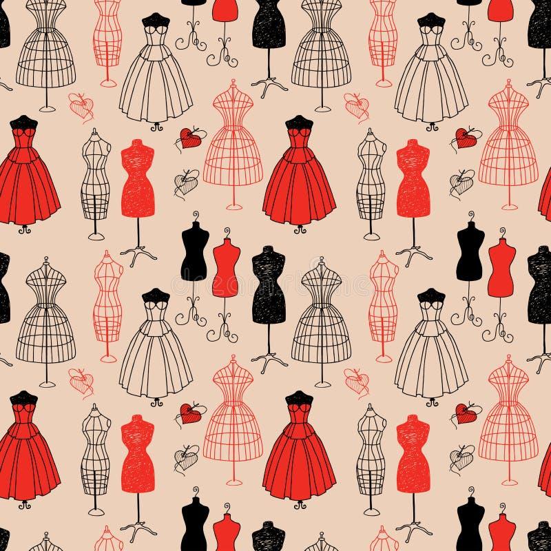 Fond sans couture des mannequins femelles illustration libre de droits