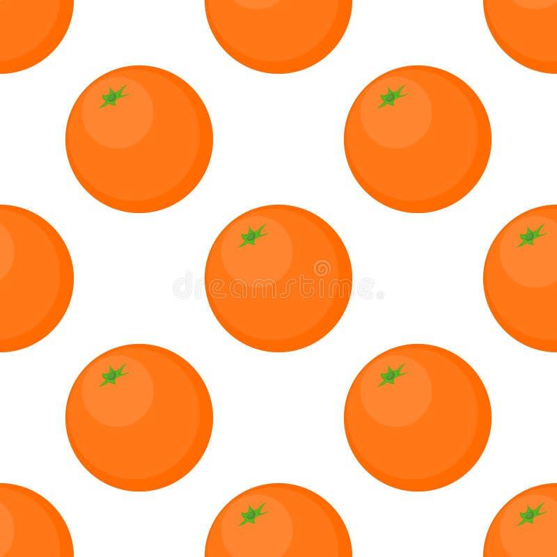 Fond sans couture des oranges sur un fond blanc illustration de vecteur