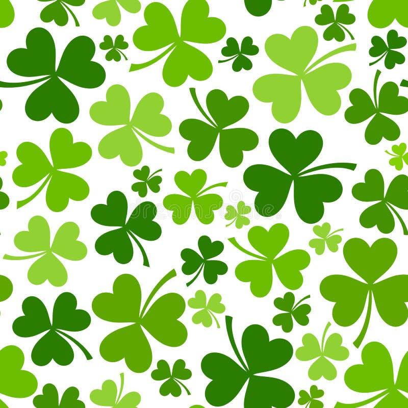 Fond sans couture du jour de St Patrick avec l'oxalide petite oseille. illustration stock