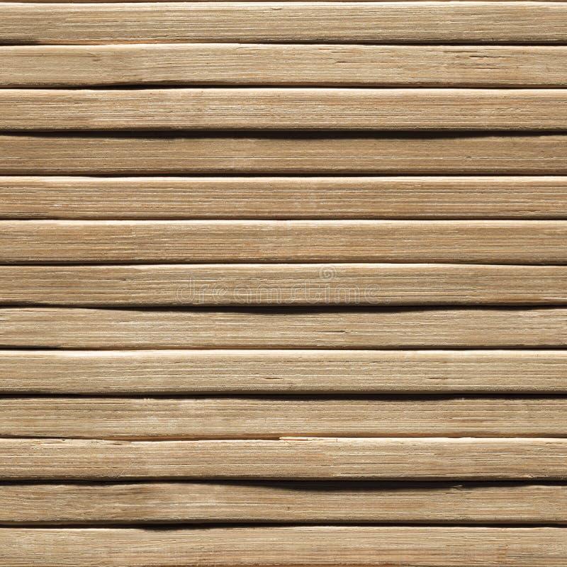 Fond sans couture en bois, texture en bois en bambou de planche, mur de planches photo stock