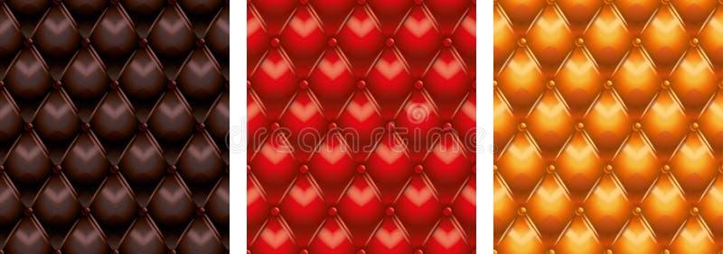 Texture en cuir tuftée illustration stock