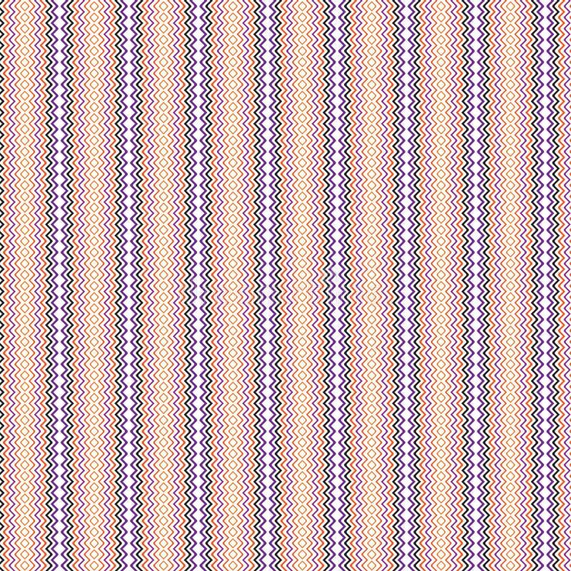 Fond sans couture ethnique indigène de modèle de Zig Zag de griffonnage abstrait géométrique illustration stock
