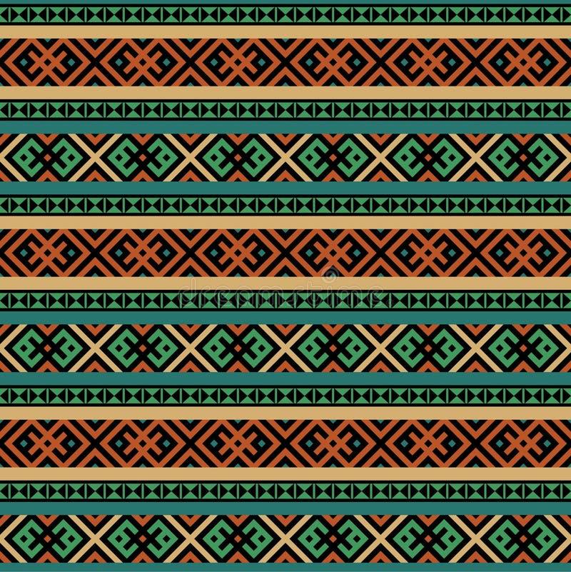 Fond sans couture ethnique multicolore illustration libre de droits