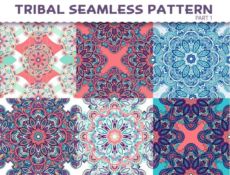 Fond sans couture ethnique tribal d'abrégé sur modèle illustration stock