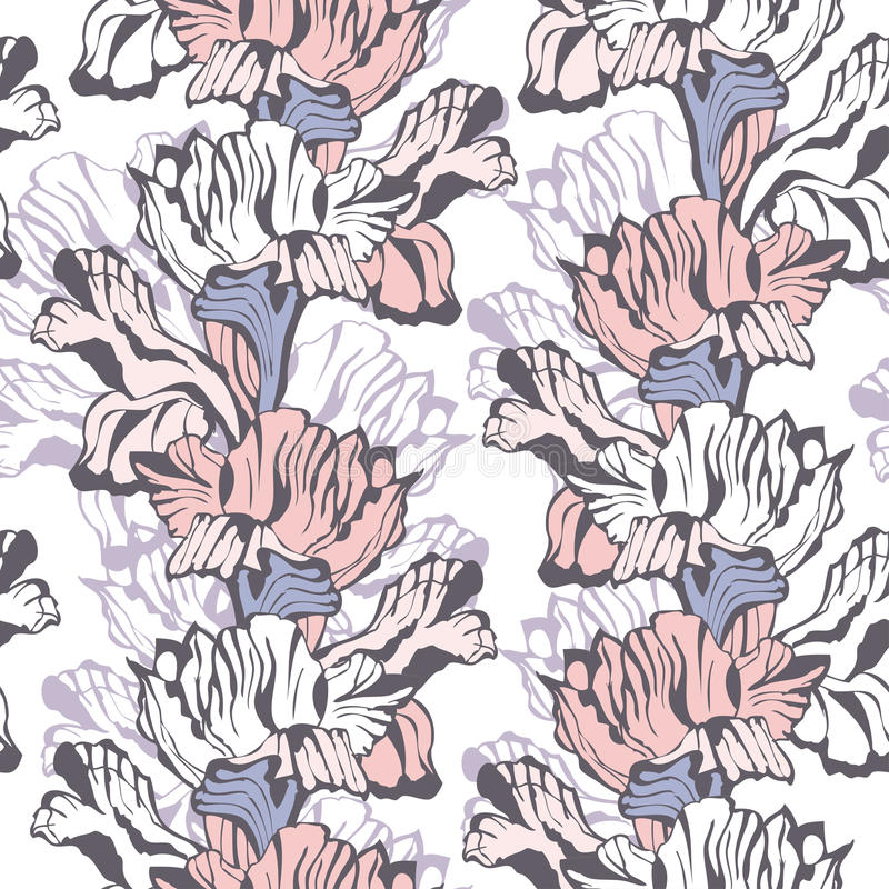 Fond sans couture floral élégant illustration de vecteur
