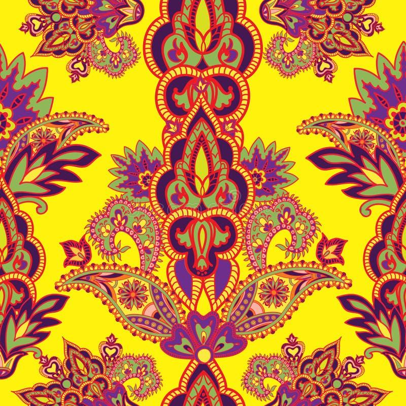 Fond sans couture floral abstrait de vintage Flourish Orn illustration stock
