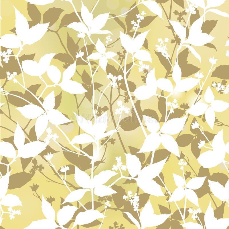 Fond sans couture floral. adoucissez le modèle de feuilles. illustration libre de droits