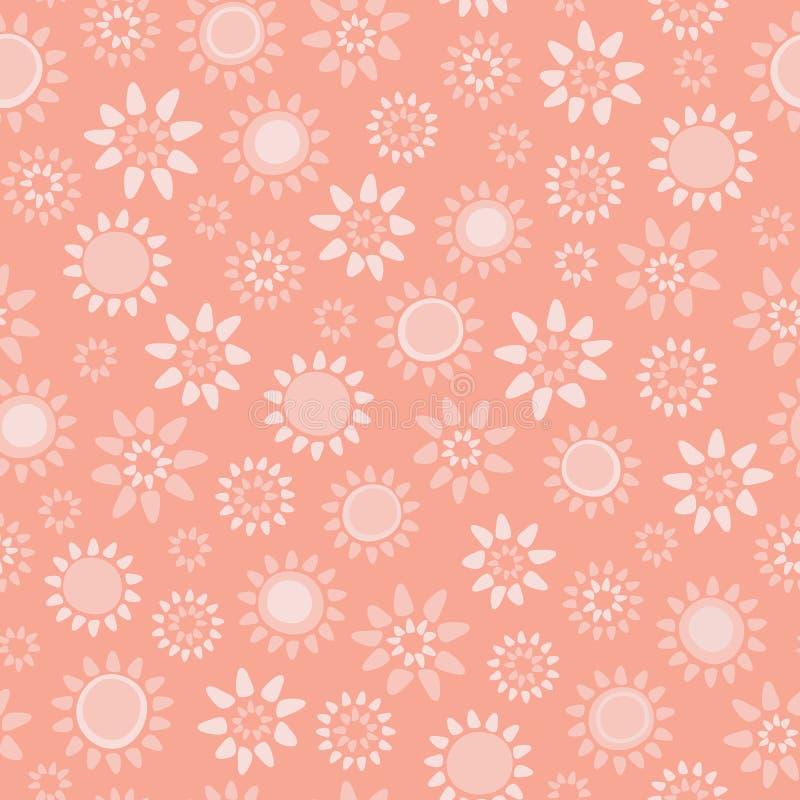 Fond sans couture floral de corail mou de modèle de répétition de vecteur illustration de vecteur
