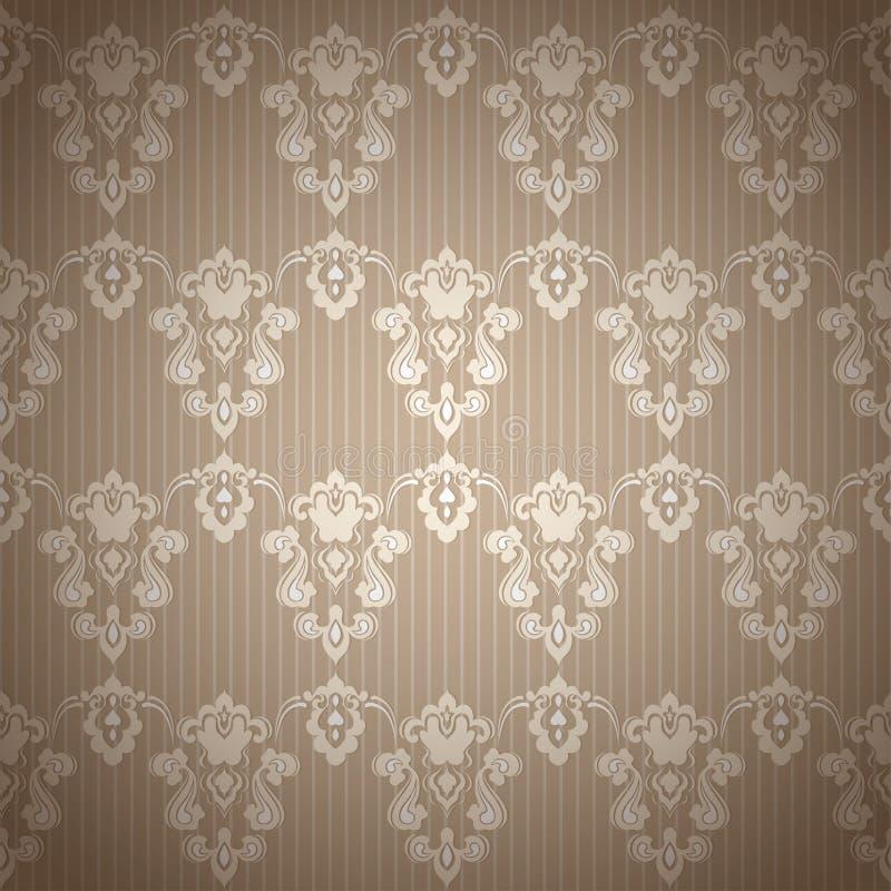 Fond sans couture floral de modèle de vintage de damassé illustration de vecteur