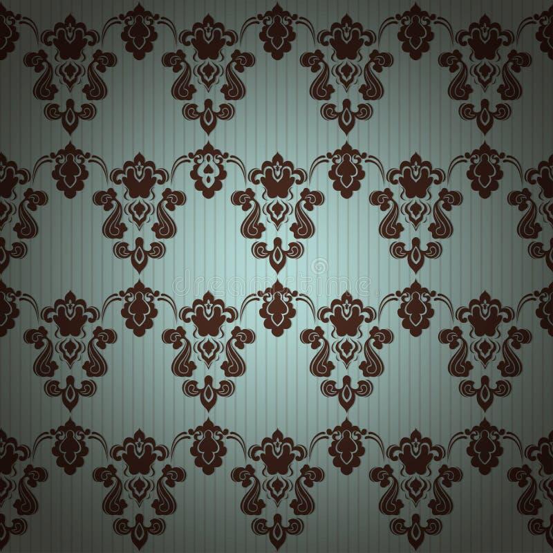 Fond sans couture floral de modèle de vintage de damassé illustration libre de droits