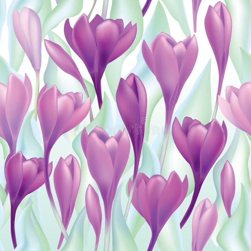 Fond sans couture floral. modèle de fleur doux. illustration stock