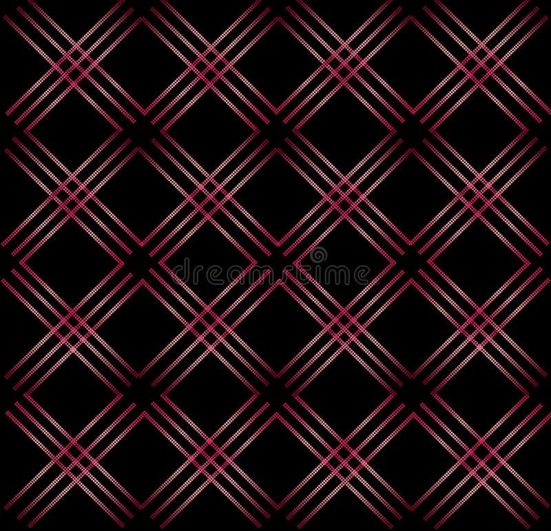 Fond sans couture géométrique abstrait élégant de noir de modèle illustration stock