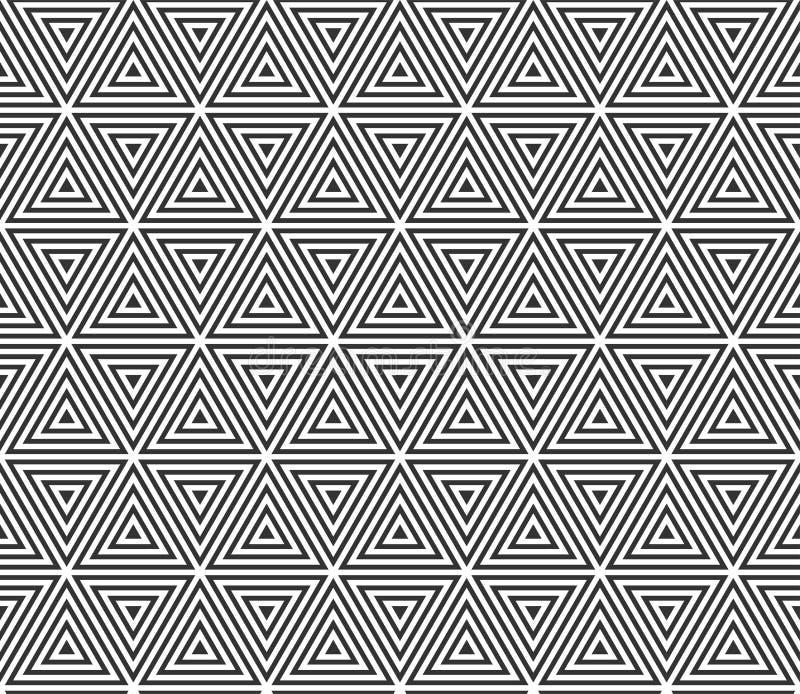 Fond sans couture géométrique abstrait de modèle Fond de modèle de texture de triangle de vecteur illustration de vecteur