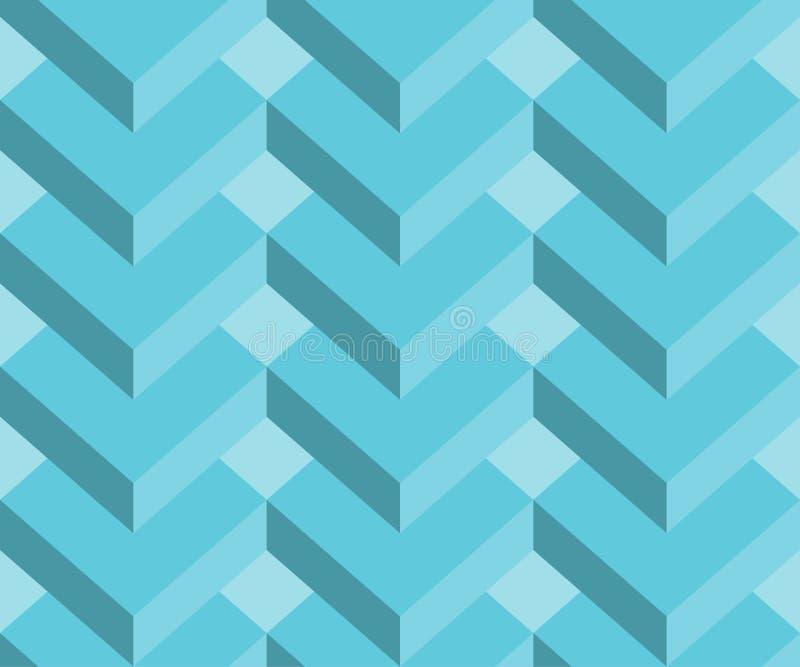 Fond sans couture géométrique abstrait du modèle 3d, fond de rectangles illustration stock