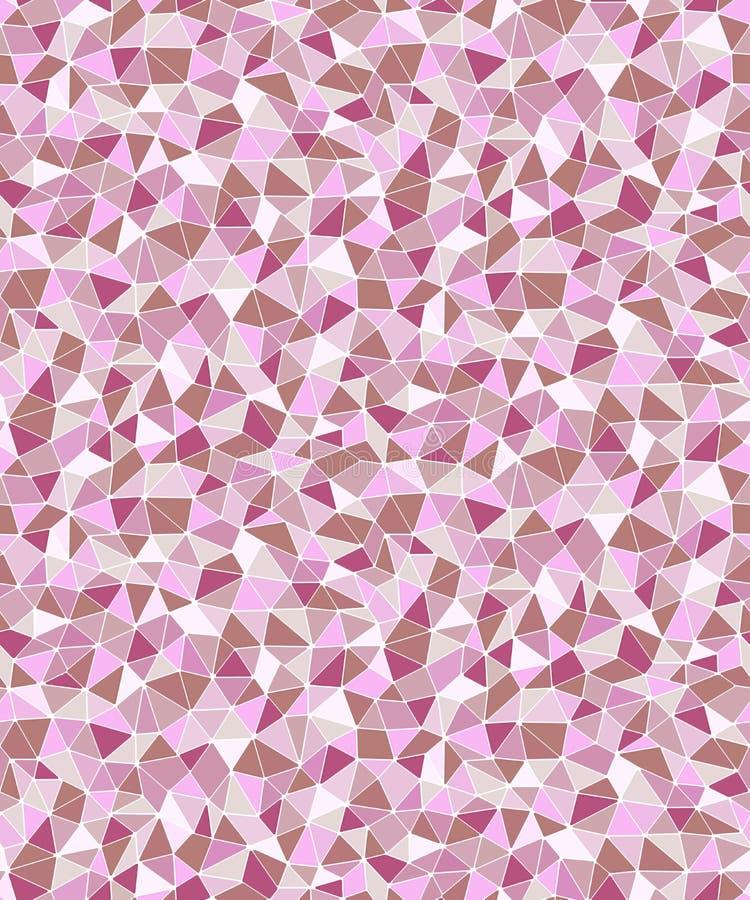 Fond sans couture géométrique de formes triangulaires simples illustration stock