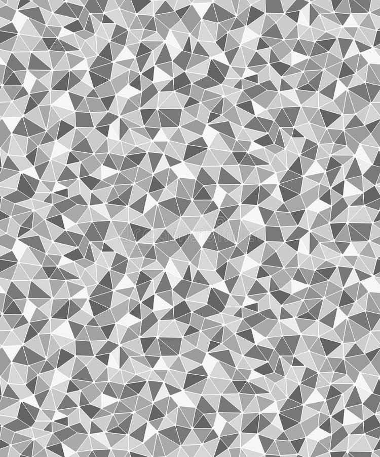 Fond sans couture géométrique de formes triangulaires simples illustration de vecteur