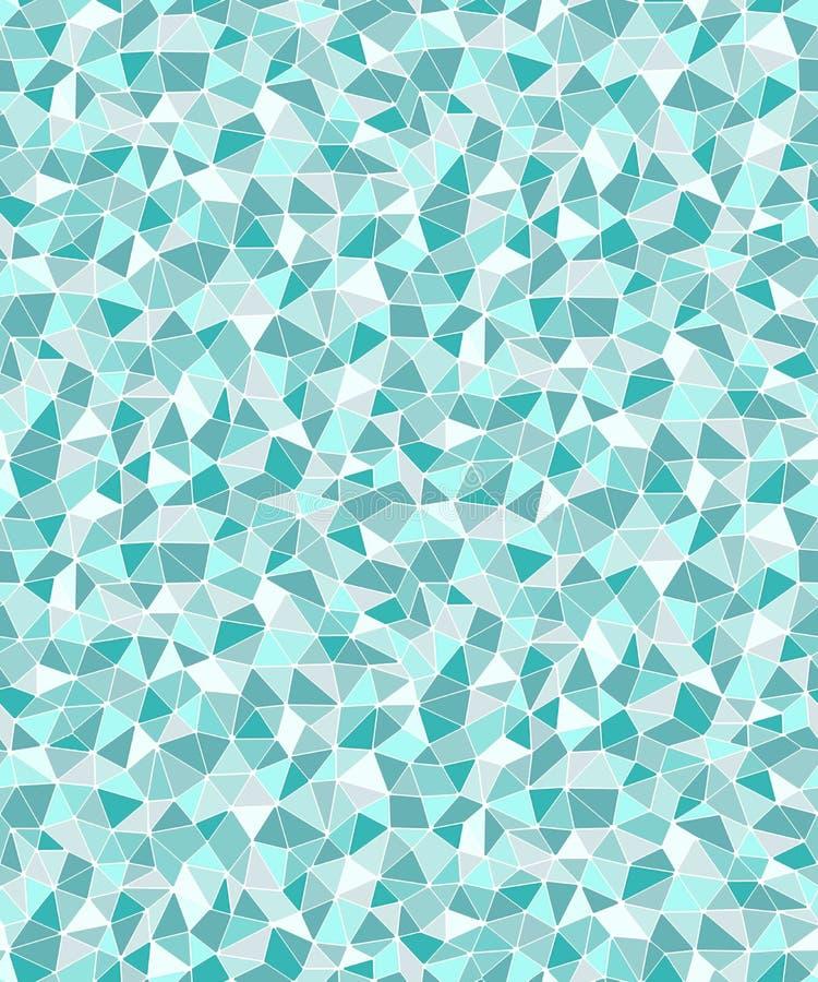 Fond sans couture géométrique de formes triangulaires simples illustration libre de droits