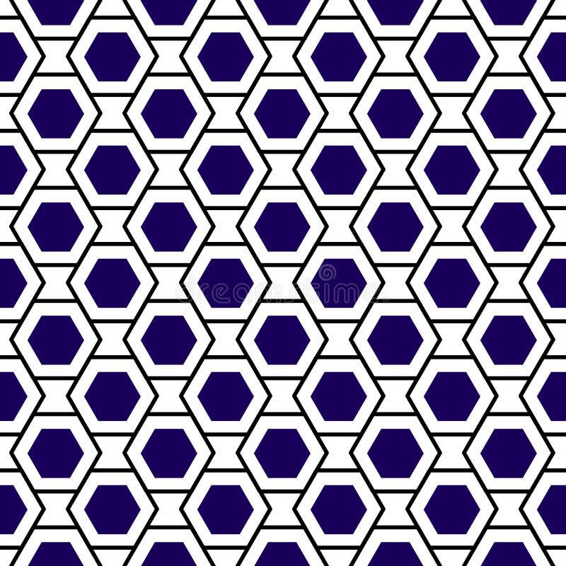 Fond sans couture géométrique de grille d'hexagones illustration de vecteur