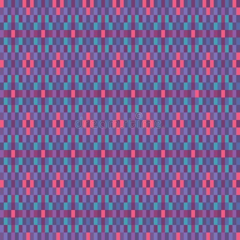 Fond sans couture géométrique ethnique de modèle de vecteur tissé par turquoise rose colorée pour le tissu, papier peint, scrapoo illustration libre de droits