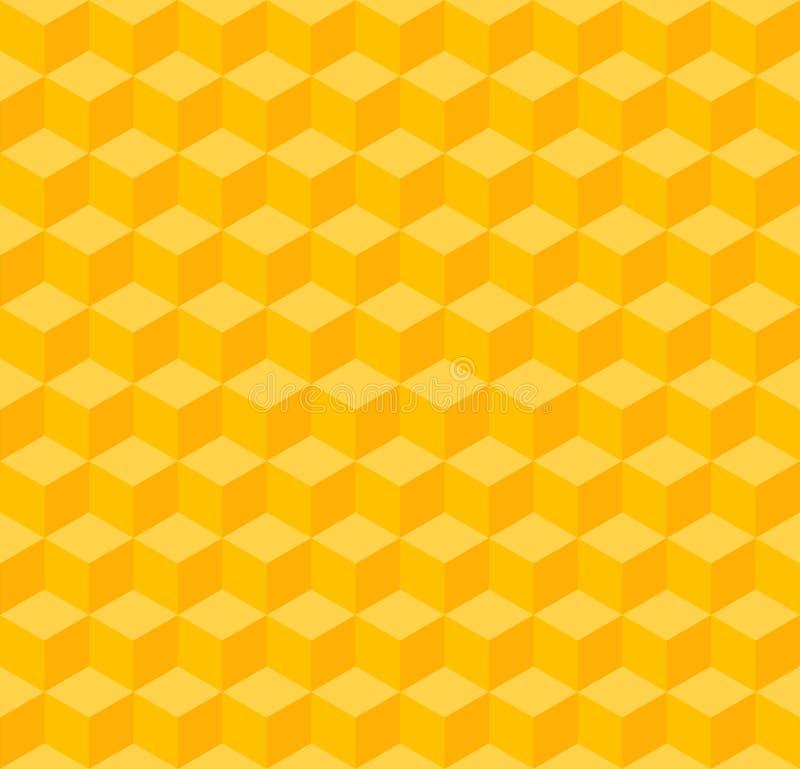 Fond sans couture géométrique jaune illustration de vecteur