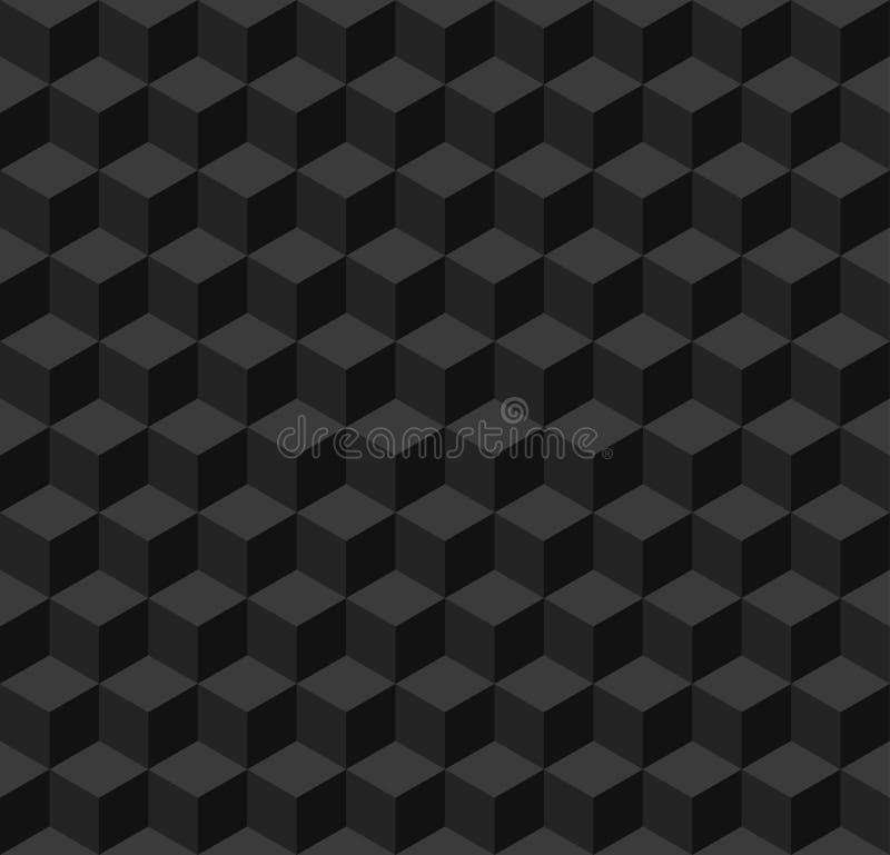 Fond sans couture géométrique noir illustration de vecteur