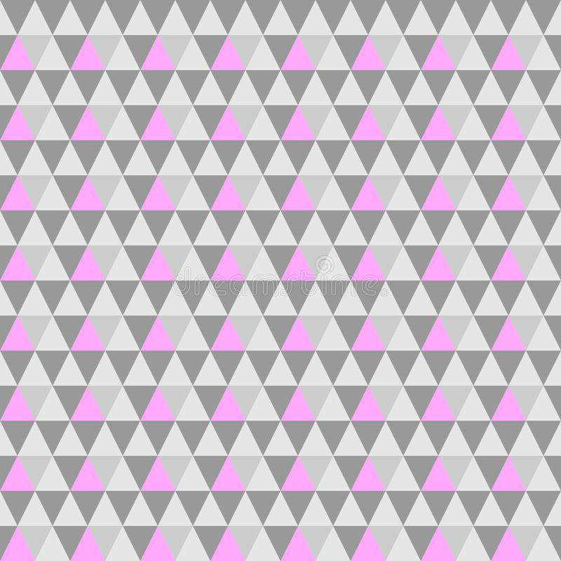 Fond sans couture gris-rose triangulaire de vecteur fond eps10 géométrique illustration stock