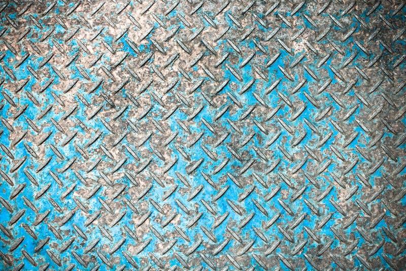 Fond sans couture grunge, métal rouillé bleu image libre de droits