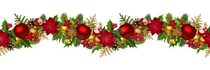 Fond sans couture horizontal de Noël. illustration libre de droits