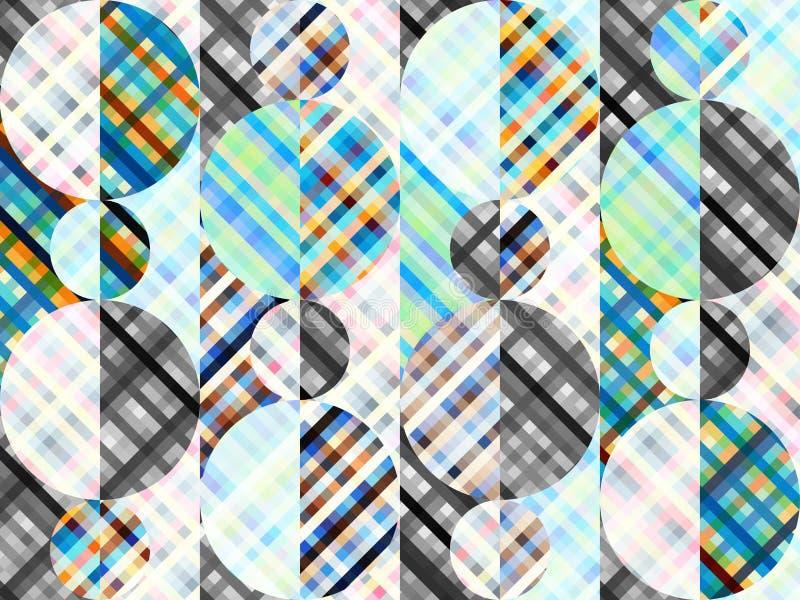 Fond sans couture Modèle diagonal abstrait géométrique dans le bas poly style d'art de pixel illustration de vecteur