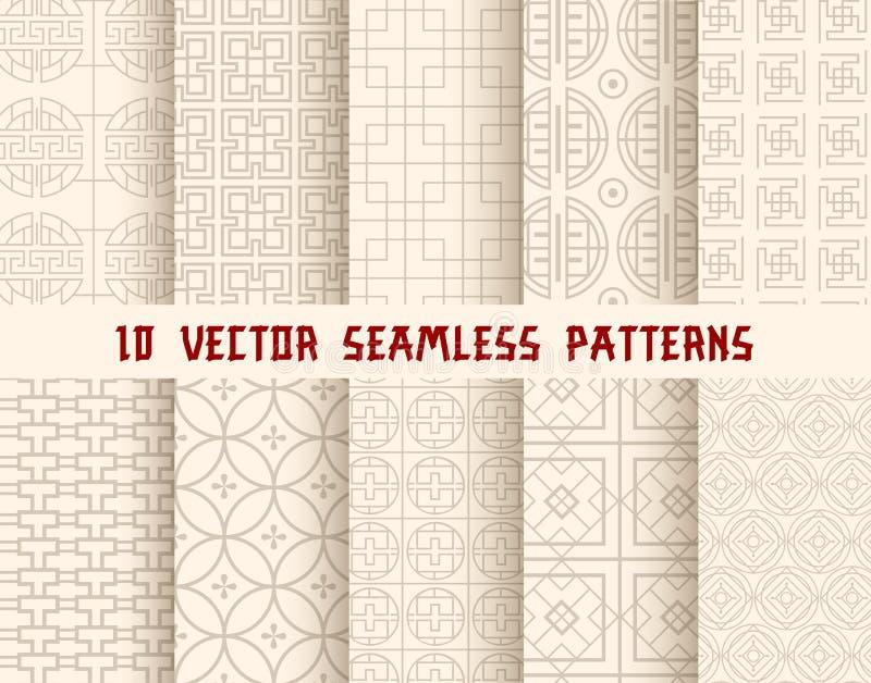 Fond sans couture oriental ou asiatique de modèle illustration de vecteur