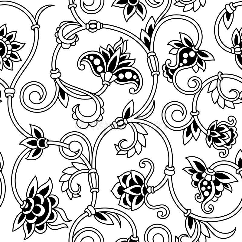 Fond sans couture ornemental de vecteur. illustration stock