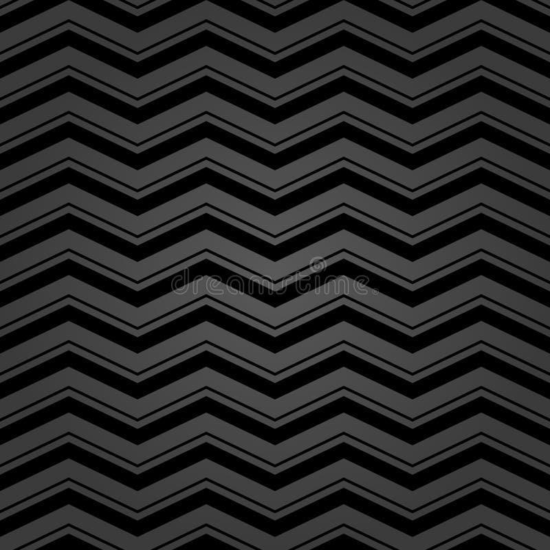 Fond sans couture pour vos conceptions Ornement moderne de vecteur avec des zigzags noirs illustration de vecteur